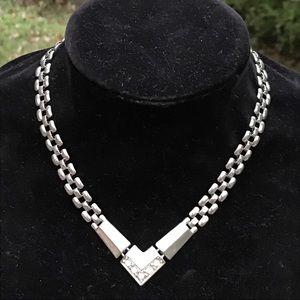 Vintage short silver necklace